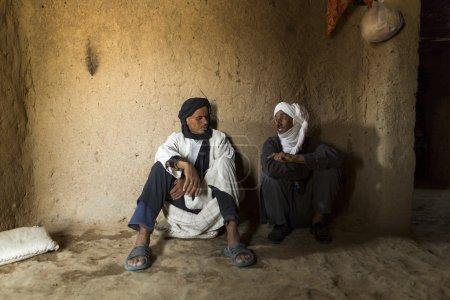 DESERT SAHARA, MOROCCO - APRIL 17: Unidentified persons, portrai
