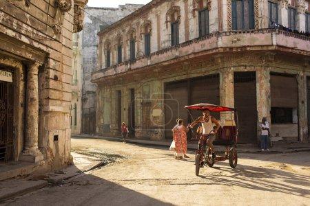 HAVANA, CUBA-OCTOBER 13:People on streets of Havana October 13,