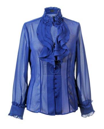 Photo pour Chemise bleue isolée sur blanc - image libre de droit