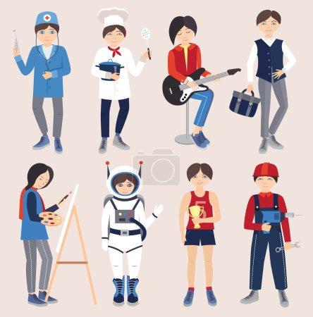 Photo pour Ensemble de personnes de différentes professions (illustration vectorielle)  ) - image libre de droit