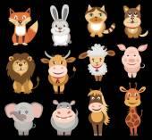 set of animals icons (vector illustration)