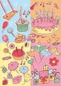 Happy birthday party card scrapbook set