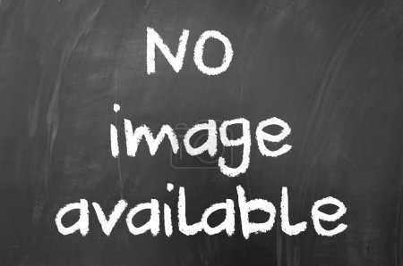 Photo for No image available concept written with white chalk on blackboard - Royalty Free Image
