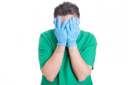 Medical malpractice concept with doctor or surgeon...