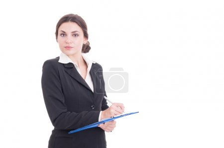 Young and attractive business woman or financial manager