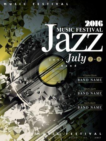 Jazz poster template design