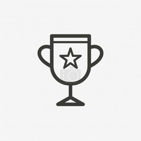 Trophy outline icon