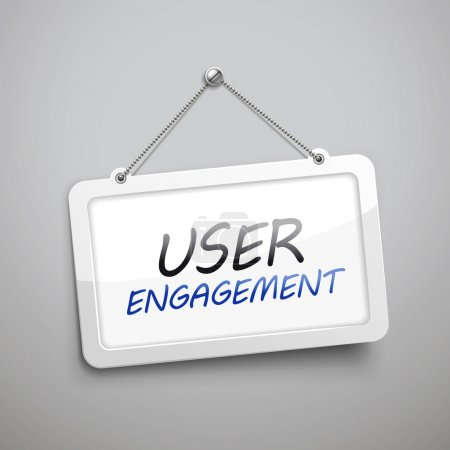 User engagement hanging sign