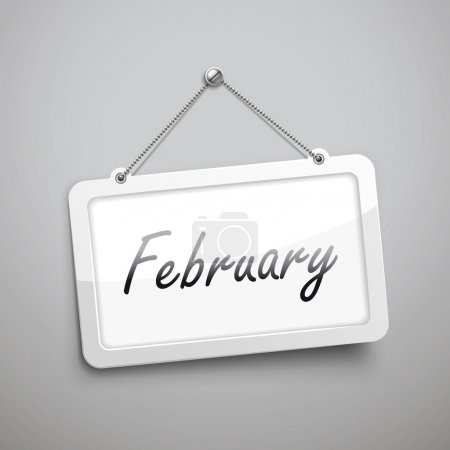 February hanging sign