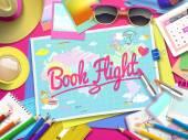 Book Flight on map