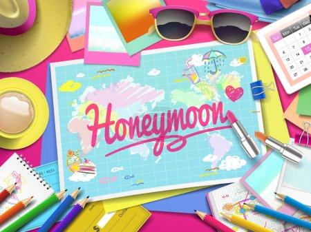 Honeymoon on map