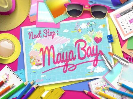 Maya Bay on map