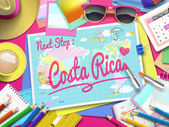 Costa Rica on map