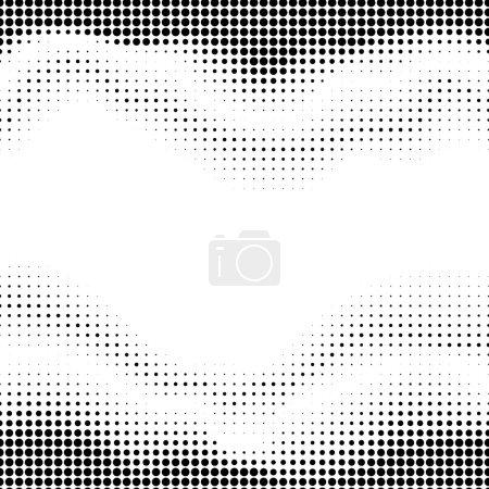 Illustration pour Motif pointillé abstrait sur fond blanc. Modèle ondulé . - image libre de droit