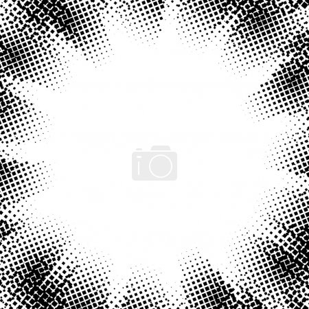 Illustration for Abstract dotted pattern design on white background - Royalty Free Image