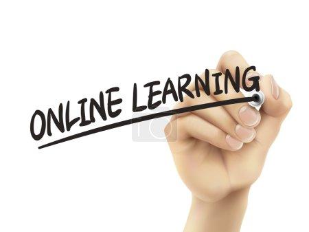 Online learning written by hand