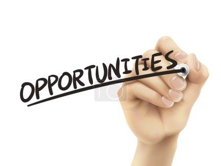 Opportunities written by hand