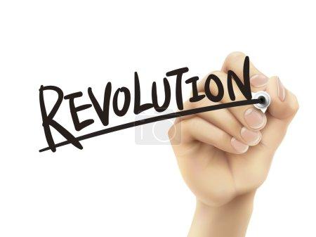 Revolution written by hand