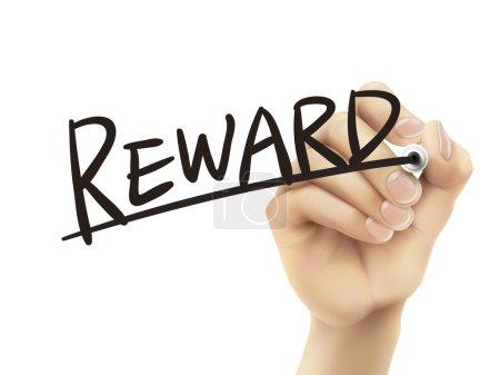 Reward written by hand