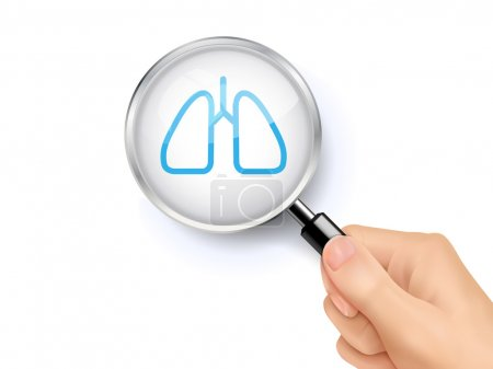 Lung icon sign