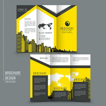 tri-fold template brochure for business advertising