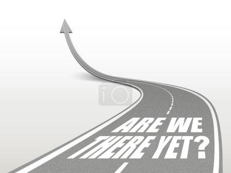 Illustration pour Sommes-nous là encore des mots sur la route qui monte comme une flèche - image libre de droit