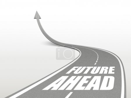 future ahead words on highway road