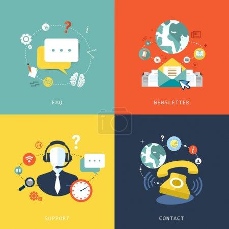 Ilustración de Diseño plano gráfico de concepto de servicio al cliente - Imagen libre de derechos