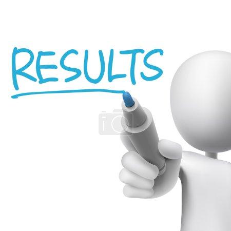 results word written by 3d man
