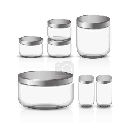 Empty glass jar set