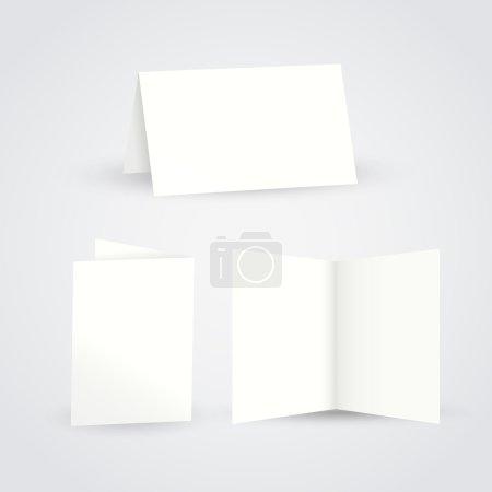 blank folded paper flyer