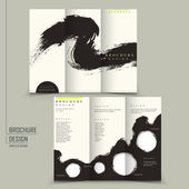 Tri Fold Kalligraphie Stil Business Broschüre