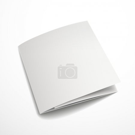 Illustration for Blank tri-fold brochure design isolated on white - Royalty Free Image