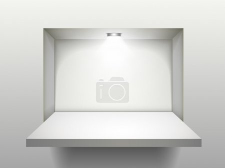 empty shelf with illumination