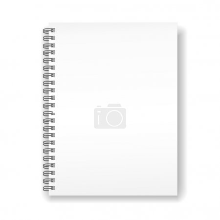 Illustration for Blank spiral notebook isolated on white background - Royalty Free Image