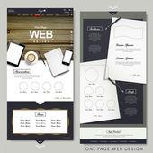 office scene one page website design template