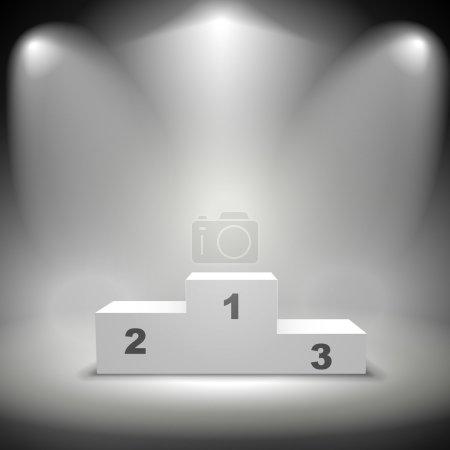 illuminated winners podium