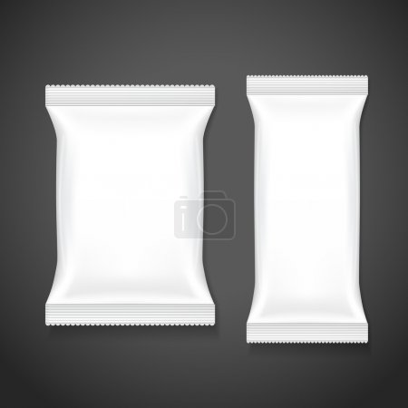 Illustration for Blank package set isolated on black background - Royalty Free Image