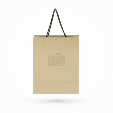 Illustration for Brown paper bag isolated on white background - Royalty Free Image
