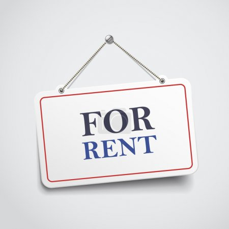 for rent hanging sign
