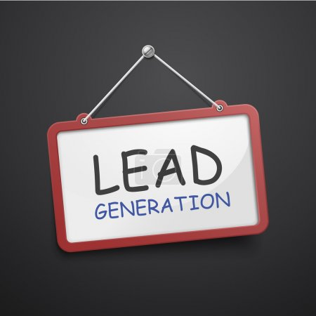 Lead generation hanging sign