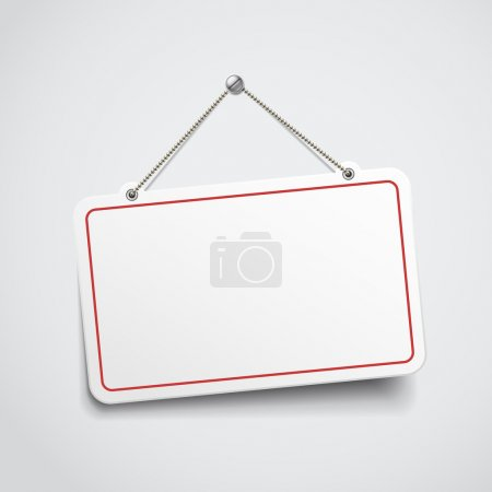Illustration for Blank hanging sign - Royalty Free Image