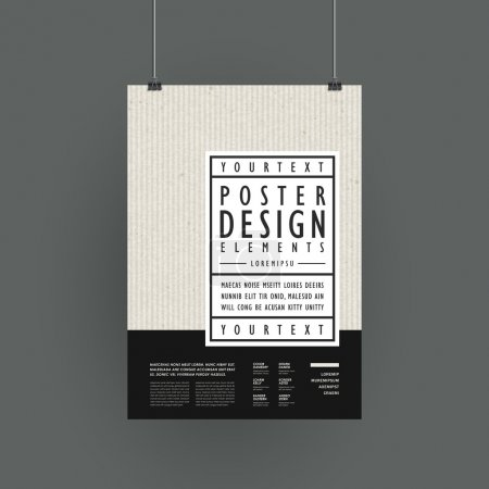 Illustration for Modern poster template design in simplicity style - Royalty Free Image