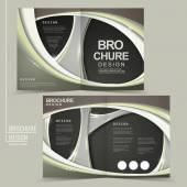 Abstract futuristic design for half-fold brochure in brown