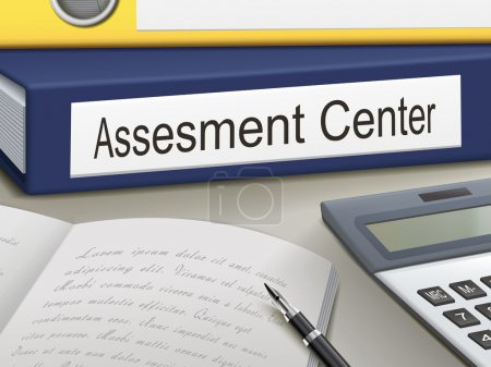 Illustration for Folder with assesment center  documents - Royalty Free Image