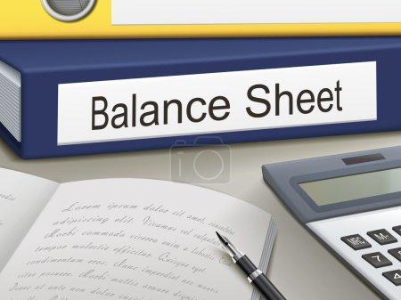 Folder with balance sheet  documents