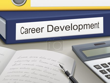Illustration for Folder with career development documents - Royalty Free Image