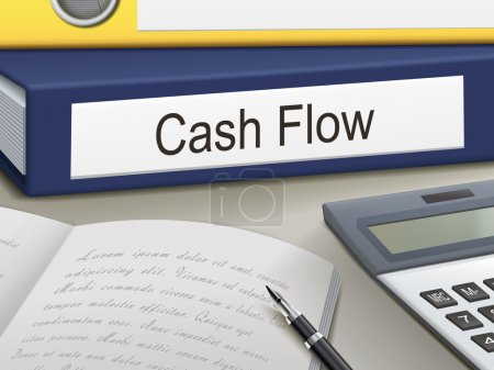 Illustration for Folder with cash flow documents - Royalty Free Image