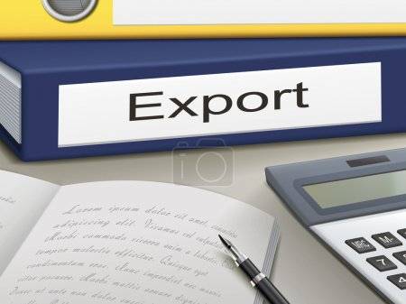 Illustration for Folder with export documents - Royalty Free Image