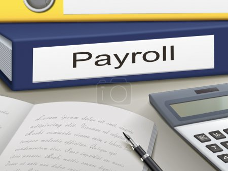 Illustration for Folder with payroll documents - Royalty Free Image